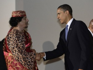 Obama Cons Gaddafi